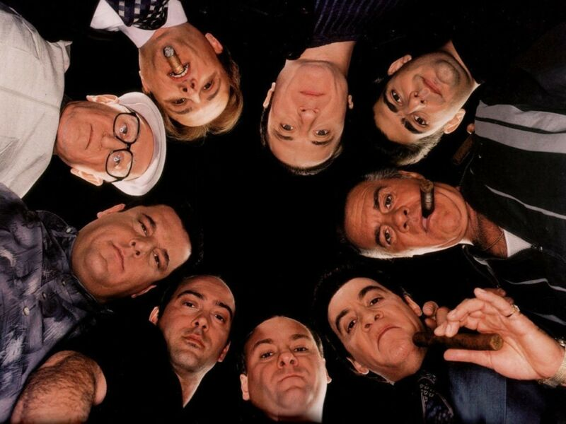 The Sopranos James Gandolfini Cast Mobsters Gangsters  8x10 Photo Print
