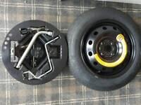 "Spare wheel kit 14"" 4 stud fiat punto"