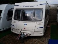 2010 Bailey Pageant Bretagne 6 Berth Triple Fixed Bunks Caravan with MOTOR MOVER