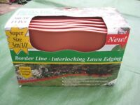 ZAG Border Line - Interlocking Terracotta Appearance Lawn Edging - Covers 3 metres in 15 Pieces