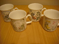 set of four collectable mugs