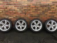 Genuine Audi A3 original 17 inch alloys and Michelin tyres