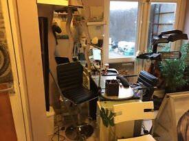 Hairdresser and barbers equipment for sale including sunbed electric massage bed nail station
