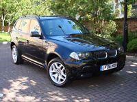 EXCELLENT DIESEL 4X4!!! 2006 BMW X3 3.0D M Sport 5dr AUTO, FULL LEATHER, FSH, PARKING SENSORS