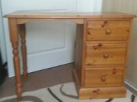 Pine Dressing table/chair/ and Wardrobe