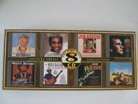 A set of 8 country and western music cds
