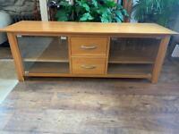 Solid Oak TV unit table