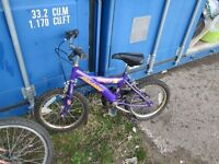 Children's Purple Raleigh bikes for sale £15