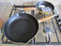 Two Chasseur - Frypans with Wood Handles - Cast Iron - New and unused.