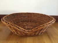 LARGE WICKER DOG BASKET - GREAT CONDITION