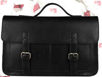 Faux Leather Soft Briefcase