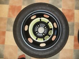 Brand New Unused Space Saver Car Wheel and Tyre 125/85 R16