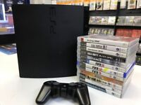 PS3. Playstation 3.console & 12 Games Bundle. 150GB HDD, BLU-RAY. Wireless Controller. perfect!
