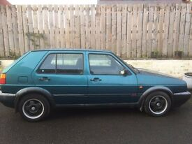 VW Golf GTi - 5 door hatchback - 1991- green