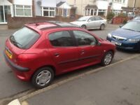 Peugeot 206 LX Clean with History ,electric sliding sunroof + electric windows