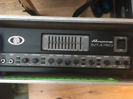 Ampeg SVT4 Pro bass amp in flight case, £600 priced to sell.