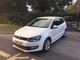 2014 VOLKSWAGEN POLO MATCH EDITION WHITE 11,000 MILES CAT C EXCELLENT CONDITION INSIDE AND OUT