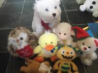 Bundle of soft toys