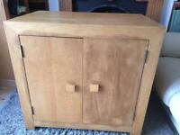 Solid wood desk sideboard