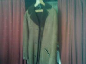 For sale - Bodffordd - unworn mans three quarter length genuine sheepskin and suede coat