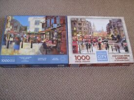 2 x 1000 piece jigsaws with a London theme.