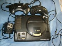 Sega Megadrive and Fighter Stick MD-6