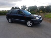 4x4 Diesel 2004 Hynndia Santa Fe in black ,1st to view will buy ,px welocme