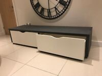 Grey White Bespoke Unit Sideboard TV Entertainment Centre Lounge Toy Storage ikea Playroom Drawers
