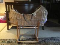 Free not needed anymore Wicker Moses basket