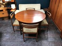 Extending Dining Table & 4 Chairs by McIntosh of Kirkcaldy. Retro Vintage Mid Century