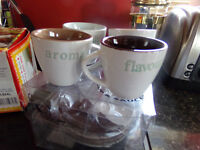 Pack of 4 Espresso Cups and Saucers New Never USed
