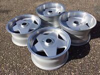 Borbet A deep dish alloy wheels, staggered, 5x100, Vw Golf Mk3 V6 rare