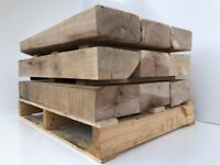 Hardwood Green Oak Sleepers - Cut, Sanded & Routered To Size | Wooden Beams