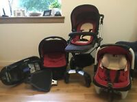 Concord Neo Travel System in Chilli (Red) PLUS Isofix & Buggy Board