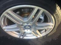Mercedes e class 18in diamond cut alloys