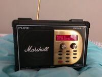 Marshall amp dab radio