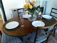 Solid Wood Extendable Table and Four chairs - Can Deliver