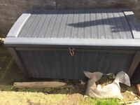 Large Keter rattan cushion/junk storage box