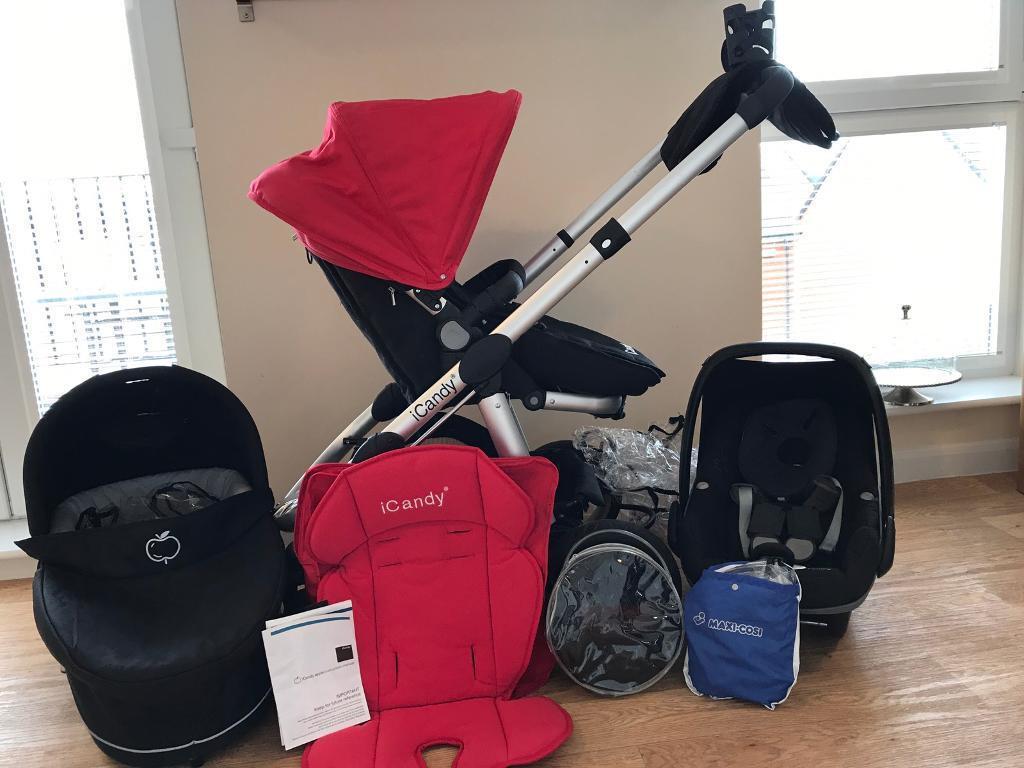 ICandy Apple Travel System Maxi Cosi Car Seat Accessories Pram Pushchair