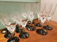 Elizabeth II Hand made Mouth blown glasses for sale