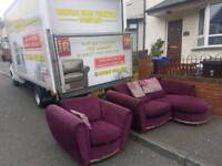 Reversible corner sofa with matching armchair