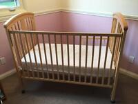 Storkcraft Convertible Crib and mattress for sale