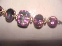 Bracelet silver with beautiful mystic quartz gem stones £120 ono