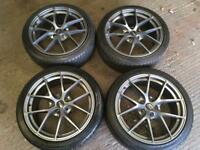 Fox 18 inch Alloy wheels and tyres.