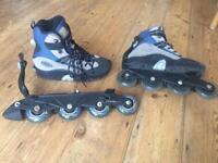Roller blades with detachable wheels Size 6 or EU 39