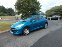 PEUGEOT 207 S 1.4 HDI DIESEL HATCHBACK BLUE 2008 ONLY £30 ROAD TAX BARGAIN £1495 *LOOK* PX/DELIVERY