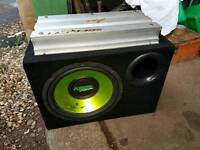 Fusion 12 inch sub with 1200 amp