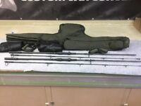 NASH BLACK OPS, 2 X 10FT, 3LB CARP RODS, MINT CONDITION, WITH TIPTOPS, AND HOLDALL