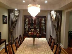 Affordable ready made and custom Drapery and curtain rods