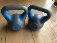 2 x 3kg KETTLEBELLS gym equipment